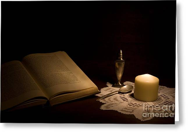 Naturaleza Muerta Greeting Cards - Reading Composition Greeting Card by Levin Rodriguez