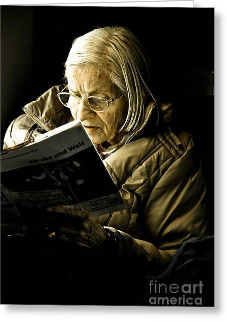 Lost Eyes Greeting Cards - Reading Is Lifetime Passion Greeting Card by Syed Aqueel