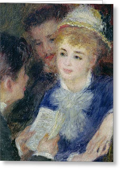 Short Hair Greeting Cards - Reading the Role Greeting Card by Pierre Auguste Renoir