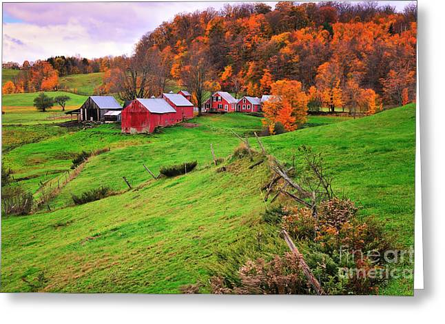 New England Village Greeting Cards - Reading Vermont Scenic Greeting Card by Thomas Schoeller
