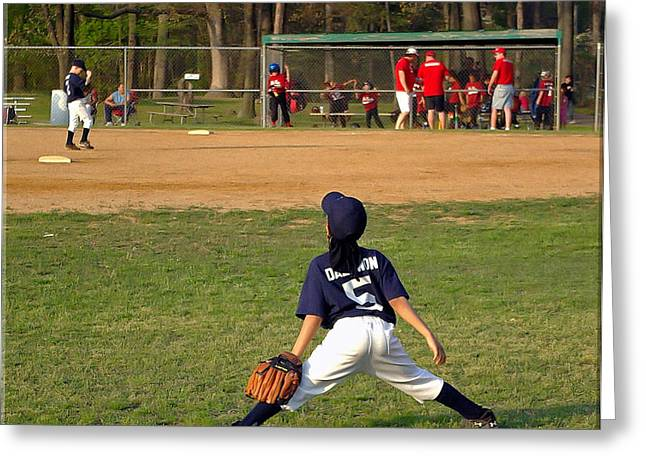 Baseball Uniform Greeting Cards - Ready Greeting Card by Brian Wallace