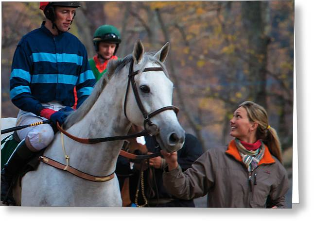 Steeplechase Race Greeting Cards - Ready? Greeting Card by Daniel Sands