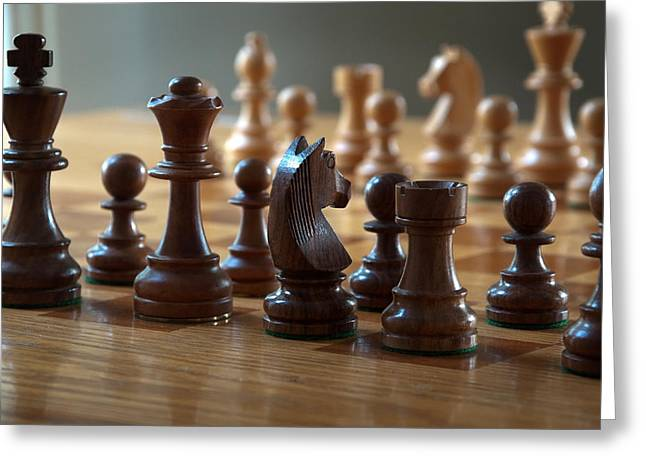 Chess Piece Greeting Cards - Ready for Battle Greeting Card by Frank Mari