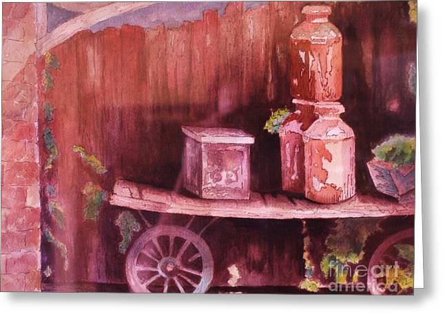 Wooden Wagons Paintings Greeting Cards - Ready for Delivery Greeting Card by Barbara Sutton