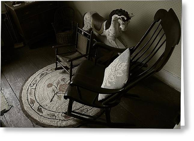 Rocking Chairs Greeting Cards - Ready for Story Time Greeting Card by Scott Hovind