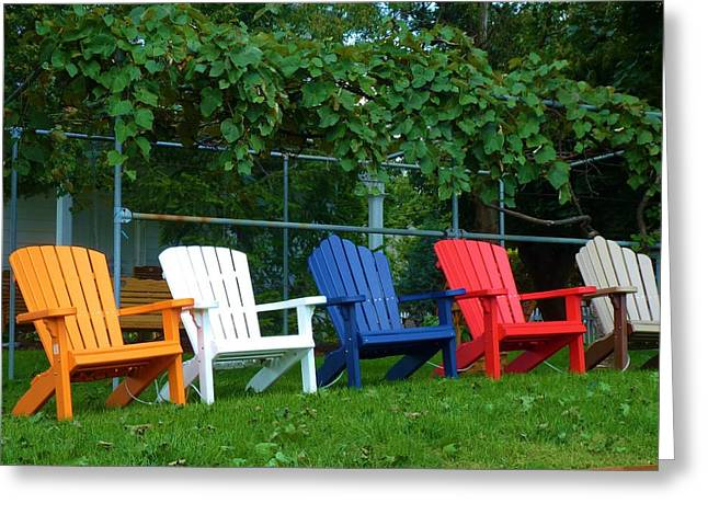 Lawn Chair Greeting Cards - Ready for Summer Greeting Card by Jeanette Oberholtzer