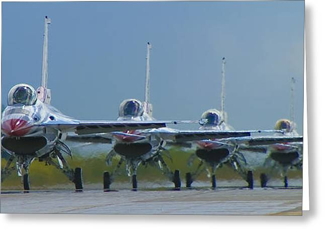 Fighters Greeting Cards - Ready for Takeoff Greeting Card by Bob Mintie