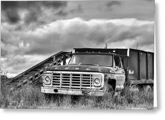 Ready for the Harvest BW Greeting Card by JC Findley