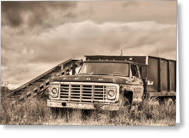 Harvest Time Photographs Greeting Cards - Ready for the Harvest Sepia Greeting Card by JC Findley