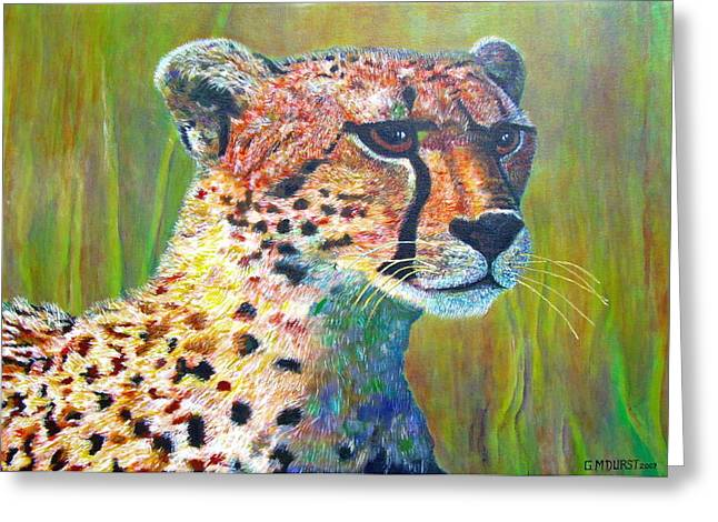 Cheetah Hunting Greeting Cards - Ready for the Hunt Greeting Card by Michael Durst