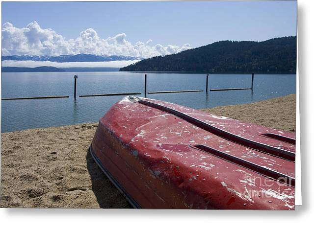 Lake Pend Oreille Greeting Cards - Ready in Red Greeting Card by Idaho Scenic Images Linda Lantzy