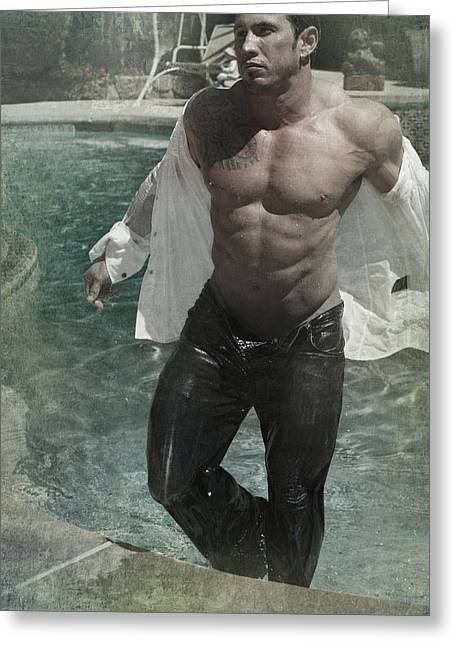 Male Model Greeting Cards - Ready Or Not Greeting Card by Laurie Search
