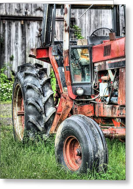 International Tractor Greeting Cards - Ready to Go V Greeting Card by JC Findley