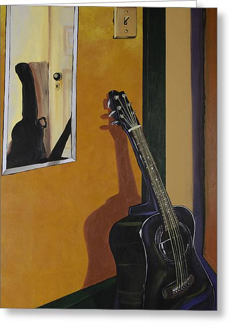 Intuited Greeting Cards - Ready To Play Guitar Greeting Card by Jennifer Noren