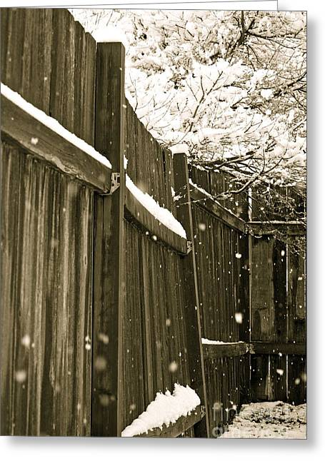 Snowy Day Greeting Cards - Realm Of Thought Greeting Card by Gwyn Newcombe
