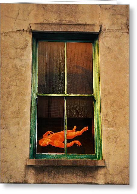 Rear Window Greeting Cards - Rear Window Greeting Card by Bill Cannon