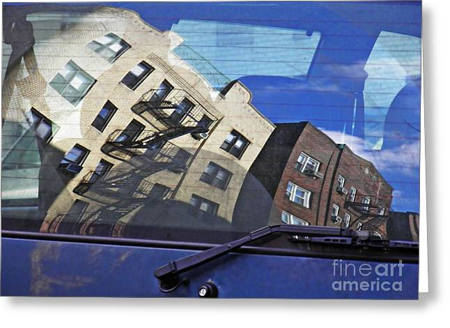 Rear Window Greeting Cards - Rear Window Greeting Card by Sarah Loft