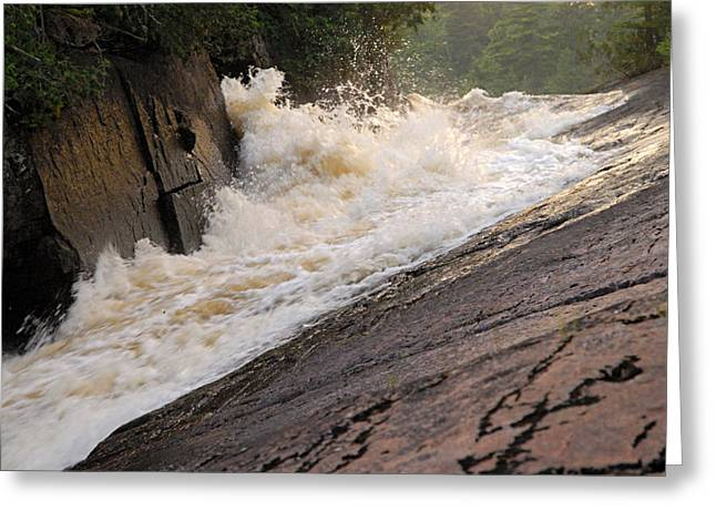Canoe Waterfall Greeting Cards - Rebecca Falls at Sunset Greeting Card by Larry Ricker