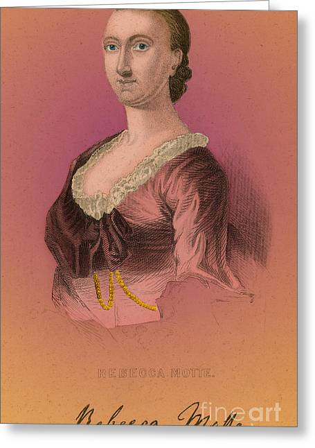 Rebecca Greeting Cards - Rebecca Motte, American Patriot Greeting Card by Photo Researchers
