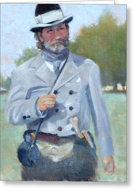Battle Of Franklin Paintings Greeting Cards - Rebel Dandy Greeting Card by Sandra Harris