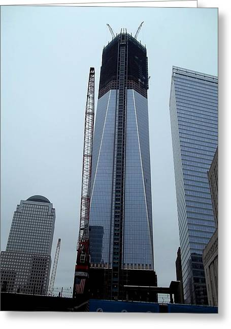 Brianna Greeting Cards - Rebuilding the World Trade Center Greeting Card by Brianna Thompson