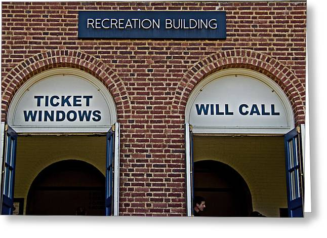 Rec Hall Greeting Card by Tom Gari Gallery-Three-Photography