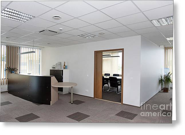 Reception Greeting Cards - Reception Area of an Office Greeting Card by Jaak Nilson