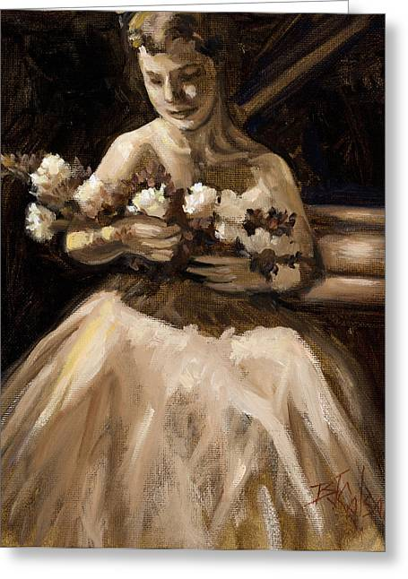Women With Roses Greeting Cards - Recital Greeting Card by Billie Colson