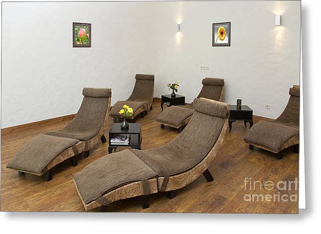 Recliners Greeting Cards - Recliner Chairs Greeting Card by Jaak Nilson