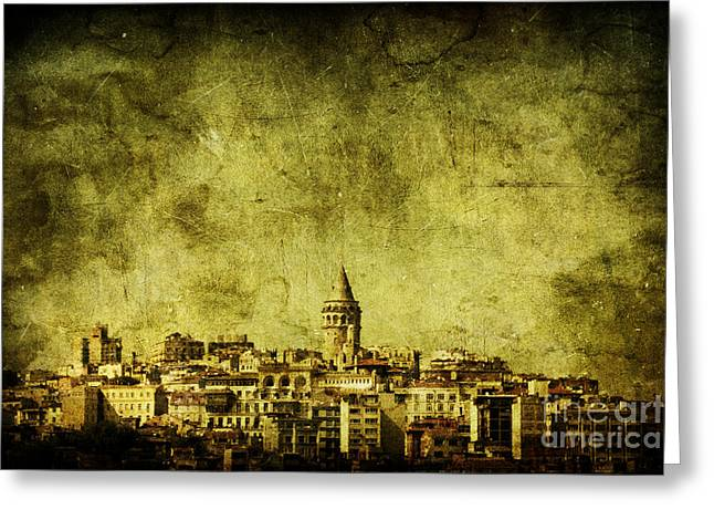Istanbul Greeting Cards - Recollection Greeting Card by Andrew Paranavitana