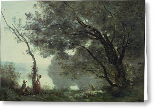 Louvre Greeting Cards - Recollections of Mortefontaine Greeting Card by Jean Baptiste Corot