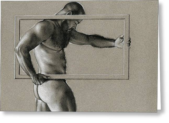 Male Drawings Greeting Cards - Rectangle Greeting Card by Chris Lopez