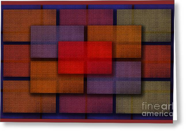 Rectangles Greeting Card by Tom Romeo