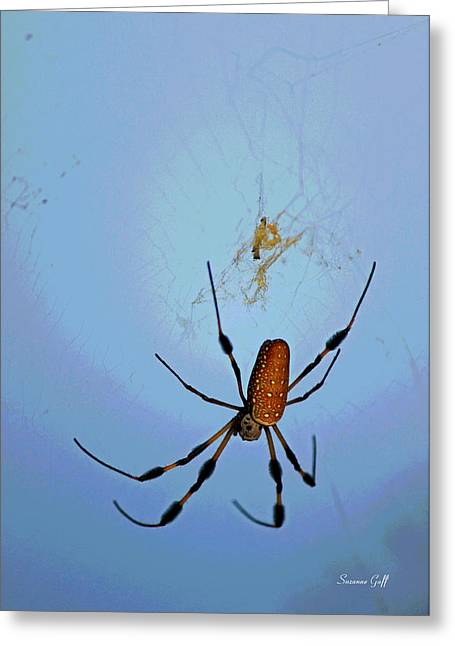 Spider Digital Art Greeting Cards - Recurring Dream Greeting Card by Suzanne Gaff
