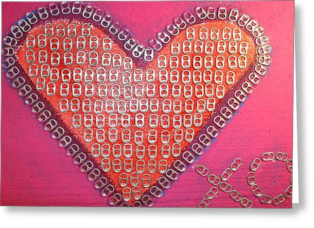 True Cross Mixed Media Greeting Cards - Recycled Love Greeting Card by James Briones