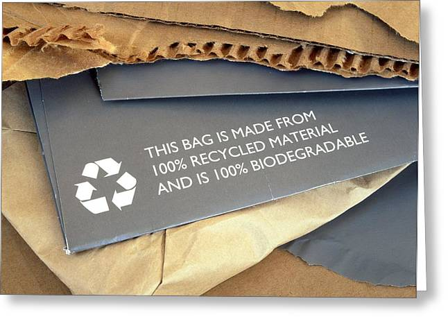 Cardboard Greeting Cards - Recycled Materials Greeting Card by Martin Bond