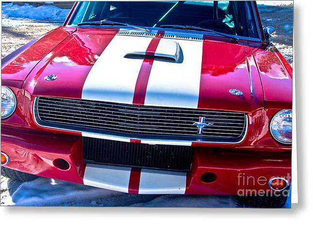 Red 1966 Mustang Shelby Greeting Card by James BO  Insogna