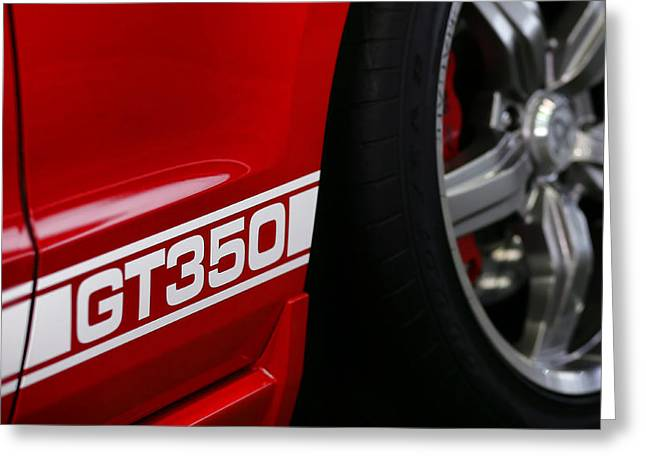 Mustang Gt350 Greeting Cards - Red 2012 Ford Mustang GT350 Greeting Card by Gordon Dean II