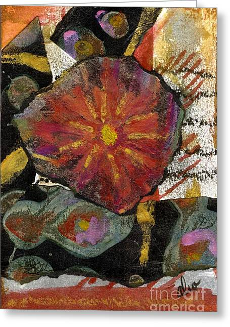 Survivor Art Greeting Cards - Red Affection Greeting Card by Angela L Walker