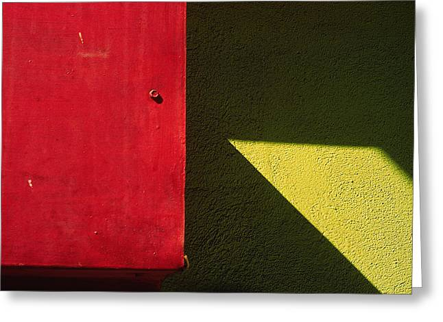 Art Ferrier Greeting Cards - Red and Green Greeting Card by Art Ferrier
