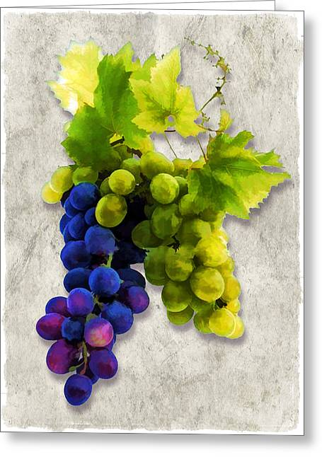 Red And White Grapes Greeting Card by Elaine Plesser