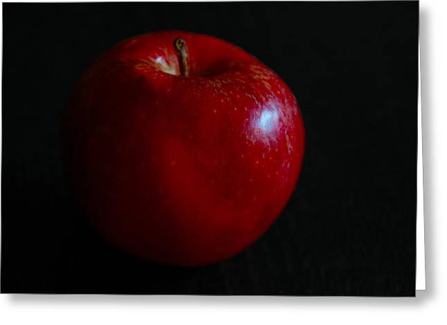 D200 Greeting Cards - Red Apple Greeting Card by Dragan Kudjerski
