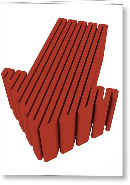 Red Arrow Greeting Card by Igor Kislev