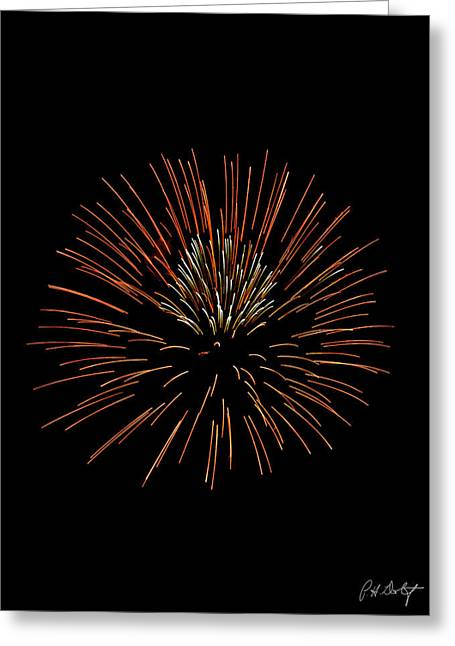 4th July Digital Art Greeting Cards - Red Ball Greeting Card by Phill  Doherty