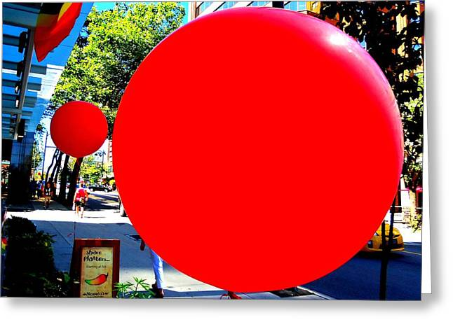 """red Balloon"" Greeting Cards - Red Balloon 1 Greeting Card by Randall Weidner"