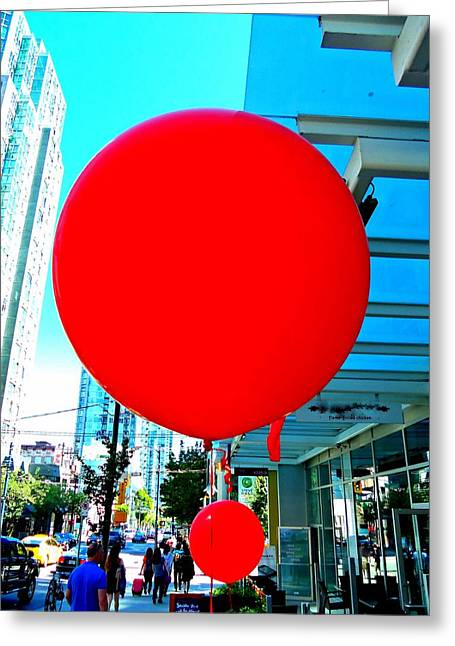 """red Balloon"" Greeting Cards - Red Balloon 2 Greeting Card by Randall Weidner"