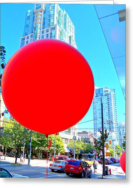 """red Balloon"" Greeting Cards - Red Balloon 3 Greeting Card by Randall Weidner"