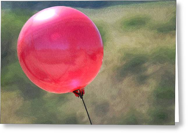 Red Balloons Greeting Cards - Red Balloon Greeting Card by Ernie Echols