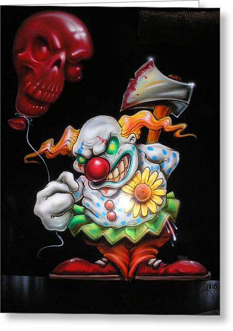Airbrush Greeting Cards - Red Balloon Greeting Card by Mike Royal