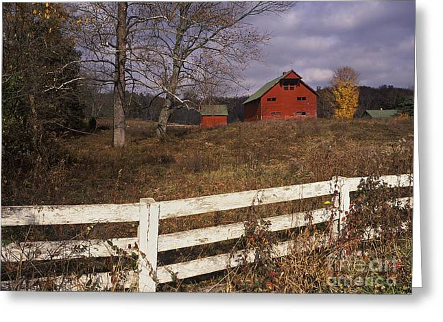 Red Barn - Fm000066 Greeting Card by Daniel Dempster